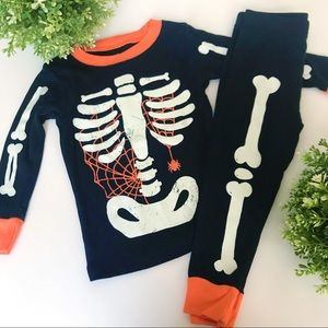 CARTER'S Skeleton 2 Piece Pajama Costume Set 18M